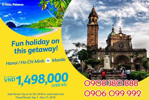 Khuyến mãi vé Cebu Pacific đi Manila 65 USD