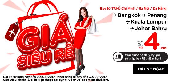 Air Asia bất ngờ tung vé khuyến mãi siêu rẻ 4 USD