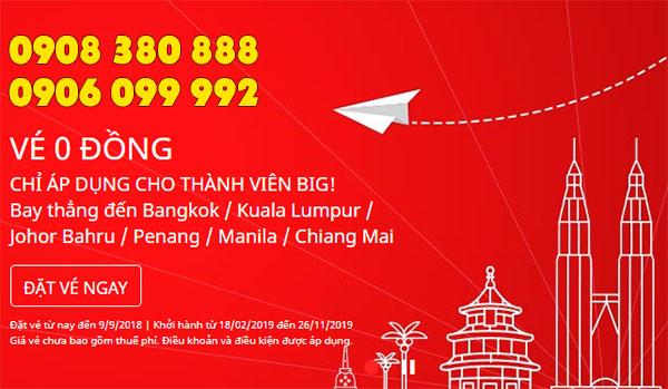 AirAsia khuyến mãi sốc 5 triệu vé 0 đồng
