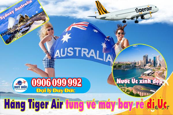 Tiger Air tung vé máy bay giá rẻ đi Australia