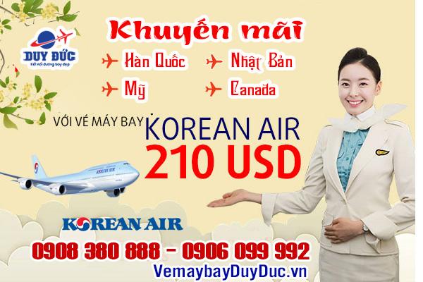 Korean Air bất ngờ khuyến mãi toàn mạng bay 210 USD