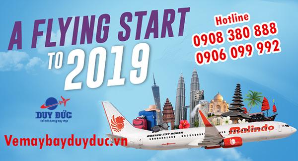 Malindo Air bán vé máy bay rẻ đầu năm 2019