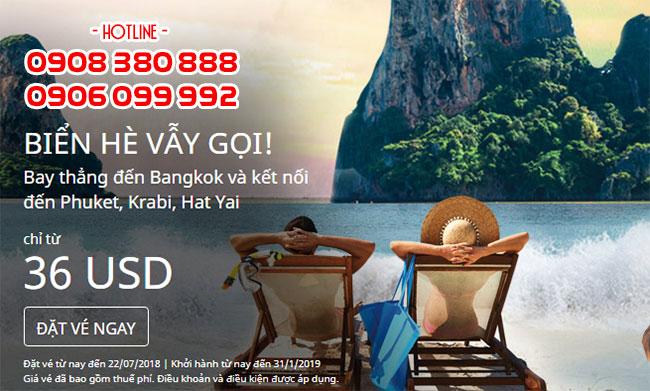 Mùa hè vẫy gọi đặt ngay vé AirAsia 36 USD