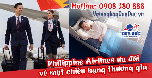 Philippine Airlines ưu đãi vé một chiều hạng thương gia
