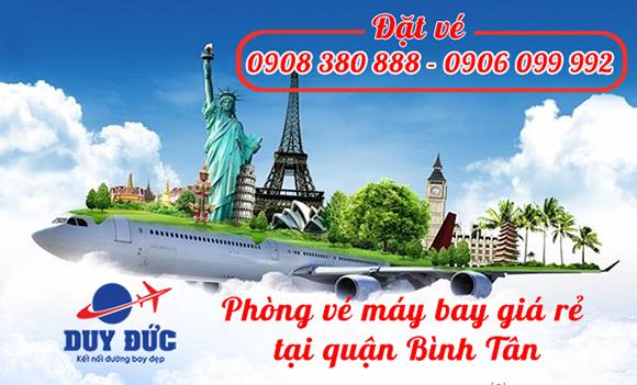 Phòng vé máy bay giá rẻ tại quận Bình Tân