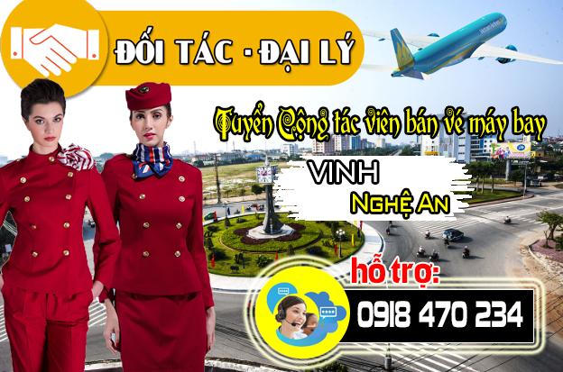 Tuyển Cộng tác viên bán vé máy bay tại Vinh Nghệ An