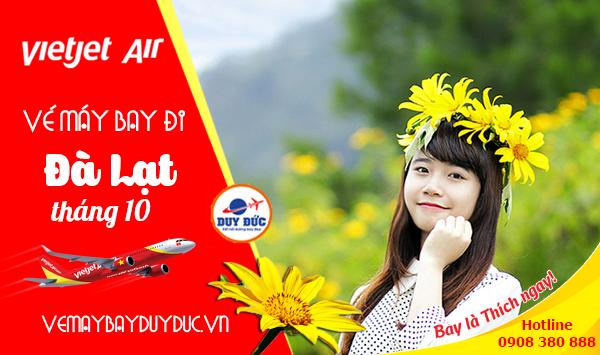 Vé máy bay đi Đà Lạt tháng 10 Vietjet Air