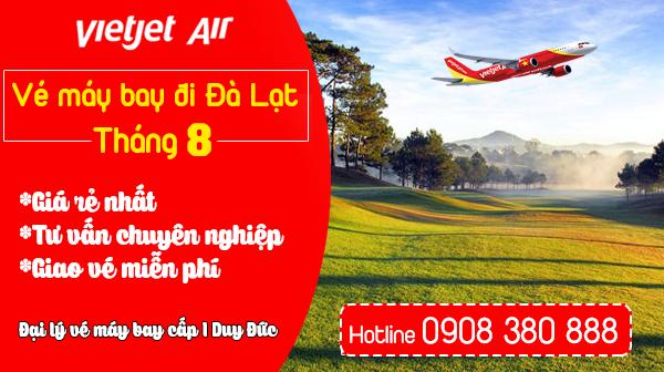 Vé máy bay đi Đà Lạt tháng 8 Vietjet Air