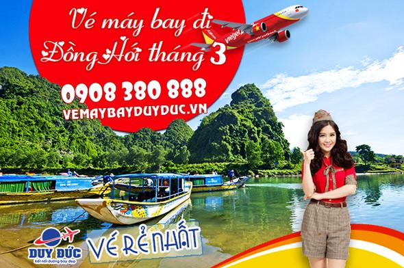 Vé máy bay đi Đồng Hới tháng 3 Vietjet Air
