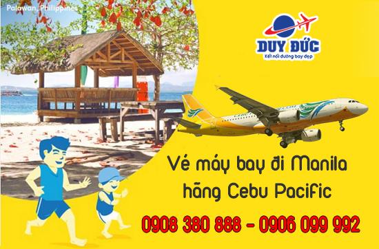 Vé máy bay đi Manila hãng Cebu Pacific