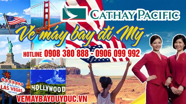 Vé máy bay đi Mỹ Cathay Pacific