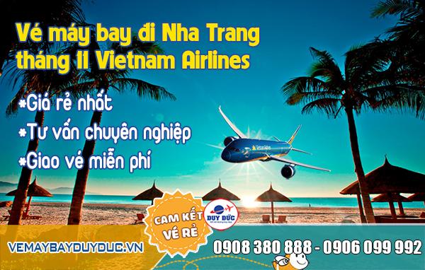 Vé máy bay đi Nha Trang tháng 11 Vietnam Airlines