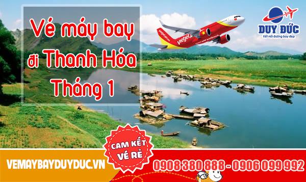 Vé máy bay đi Thanh Hóa tháng 1 Vietjet Air