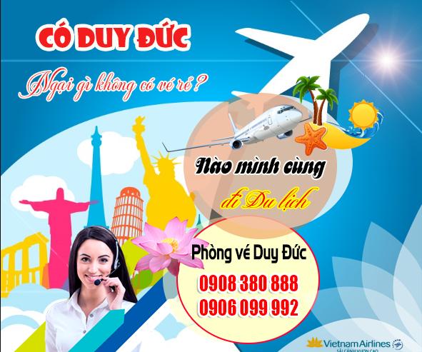 Vé máy bay đường Trần Quốc Thảo quận 3 TP Hồ Chí Minh