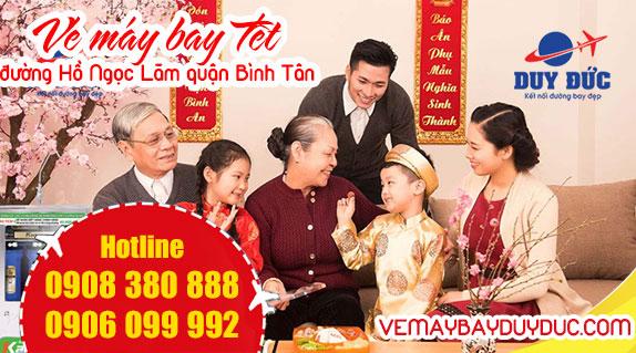 Vé máy bay tết đường Hồ Ngọc Lãm quận Bình Tân TPHCM