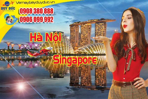 Vietjet khuyến mãi vé Hà Nội sang Singapore giá 500k