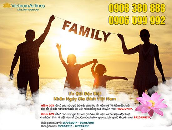 Vietnam Airlines ưu đãi hấp dẫn nhân ngày Gia đình Việt Nam