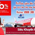 AirAsia giảm đến 70% giá vé các chuyến bay