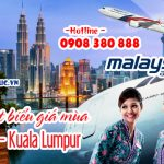 Cập nhật giá vé khứ hồi đi Kuala Lumpur hãng Malaysia Airlines