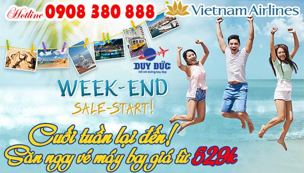 Cuối tuần lại đến săn ngay vé Vietnam Airlines 529k