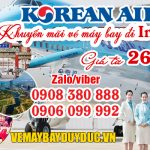 Korean Air khuyến mãi vé máy bay đi Incheon 260 USD