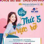 Vietnam Airlines khuyến mãi thứ 5 rực rỡ giảm 50% giá vé