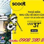Scoot khuyến mãi vé máy bay giá rẻ 37 USD