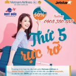 Vietnam AirlinesvàJetstartiếp tục giảm 50% giá vé