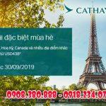 Cathay Pacific khuyến mãi đặc biệt mùa hè