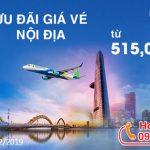 Bamboo Airways ưu đãi vé bay nội địa chỉ từ 515,000 Đ