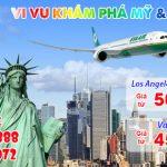 Hãng Eva Air khuyến mãi vé máy bay đi Mỹ, Canada
