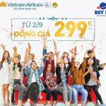 Mừng Quốc Khánh Vietnam Airlines ưu đãi đồng giá 299k