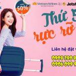 Ưu đãi 50% giá vé nội địa ngày thứ 5 từ Vietnam Airlines và Jetstar