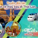 Tuyển đối tác bán vé máy bay đi Thái Lan