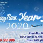 Khởi đầu năm 2020 Vietnam Airlines ưu đãi 10% giá vé