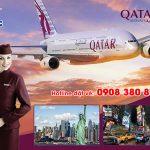 Vé máy bay đi Mỹ Qatar Airways