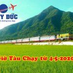 Tổng hợp lịch chạy tàu hỏa từ 04-05-2020