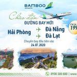 Bamboo Airways mở hai đường bay mới Hải Phòng – Đà Nẵng và Hải Phòng – Đà Lạt