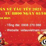 Mở bán vé tàu Tết Tân Sửu 2021