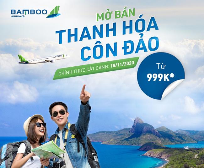 Bamboo Airways mở bán vé đường bay mới Thanh Hóa - Côn Đảo