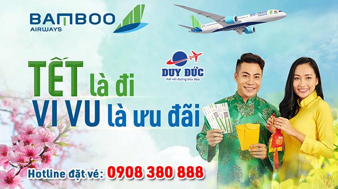Giá vé Bamboo Airways mùng 1 Tết