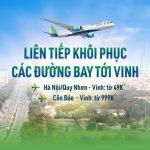 Vé bay Bamboo Airways từ Vinh đến Hà Nội, Quy Nhơn, Côn Đảo chỉ từ 49K
