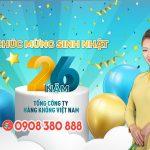 Vietnam Airlines ưu đãi 15% giá vé nhân dịp sinh nhật