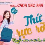 Thứ 5 rực rỡ Vietnam Airlines khuyến mãi vé nội địa 222k