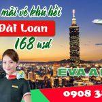 Eva Air khuyến mãi vé khứ hồi đi Đài Loan 168 usd
