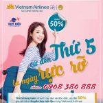 Thứ 5 giảm đến 50% giá vé Vietnam Airlines
