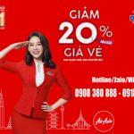AirAsia giảm 20% giá vé bay thẳng từ Việt Nam đến Malaysia, Thái Lan, Philippines