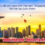 Vietnam Airlines ưu đãi 20% giá vé hành trình Việt Nam – Singapore