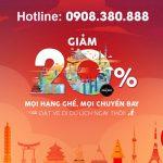 AirAsia giảm 20% giá vé trên tất cả chuyến bay