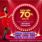 AirAsia khuyến mãi giảm đến 70% giá vé đi Thái Lan